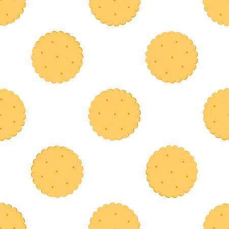 galletas integrales: Transparente Ilustración galletas crackers.