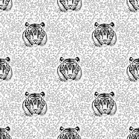 berserk: pattern of tiger. Vector