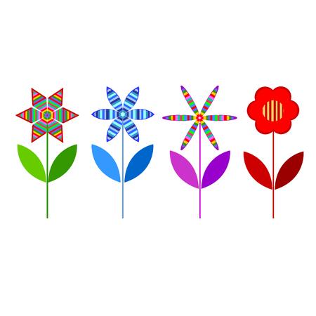 vectorized: Set of Vectorized Flowers