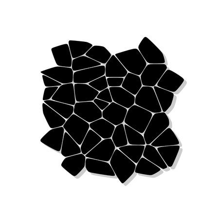 piedra laja: Illustration texture of stones, stone wall background - vector