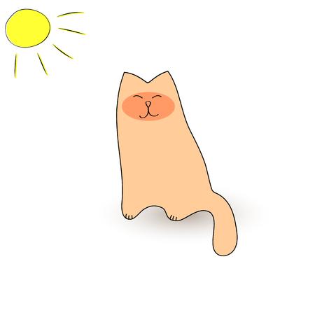Fat cat basking in the sun.