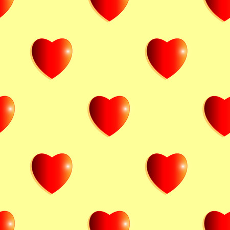 shiny hearts: Seamless background of shiny hearts Illustration