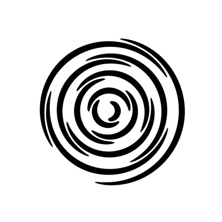 Set of vector spirals. Design element.