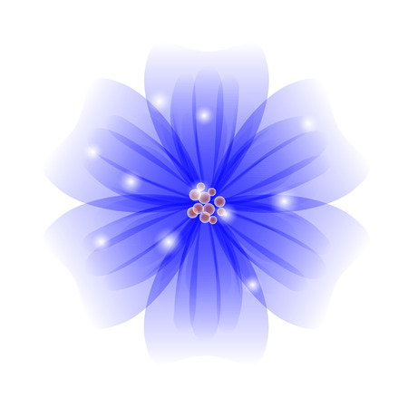 stamen: Vector background with blue flowers. EPS 10.