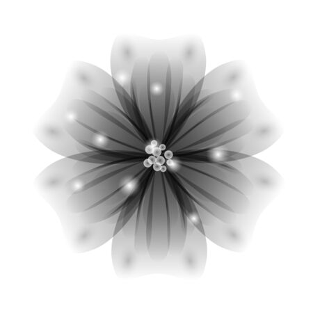 stamens: Vector background with greyflowers. EPS 10.