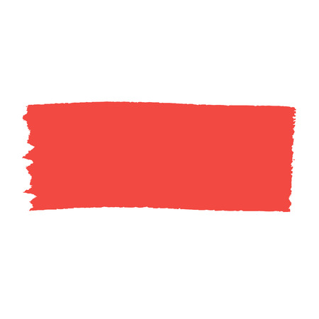 brush stroke: Red brush stroke isolated on white background. Illustration