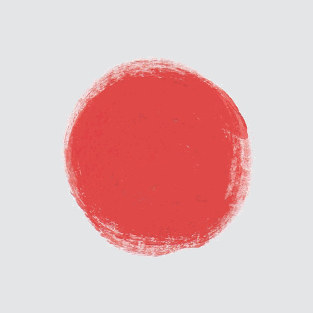 Red paint vector circle. Vectores