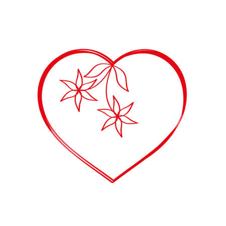 floral heart: Abstract floral heart for valentines day Illustration