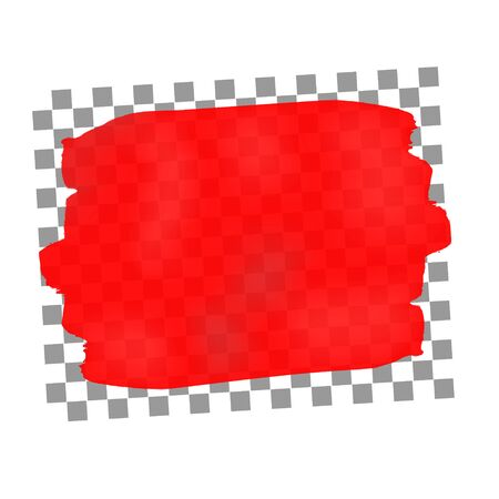 paintbrush spray: Transparent red stroke of paint.