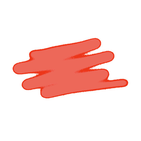 scruffy: Red smear on a white wall. eps 10 Illustration