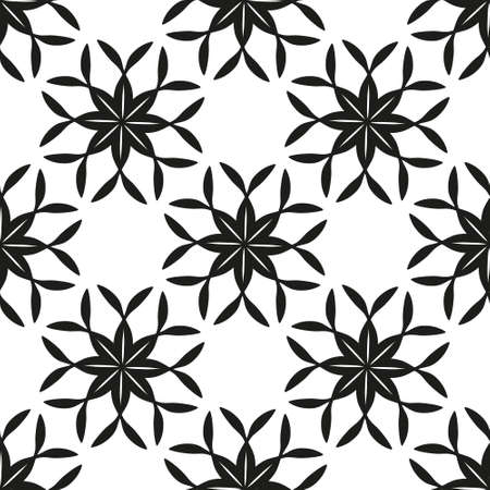 clover backdrop: Geometric floral seamless background. eps 10