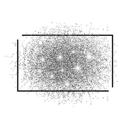 scattering: Frame for text and a scattering of silver sand. Illustration