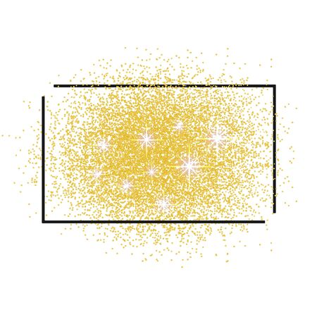scattering: Frame for text and a scattering of Golden sand.