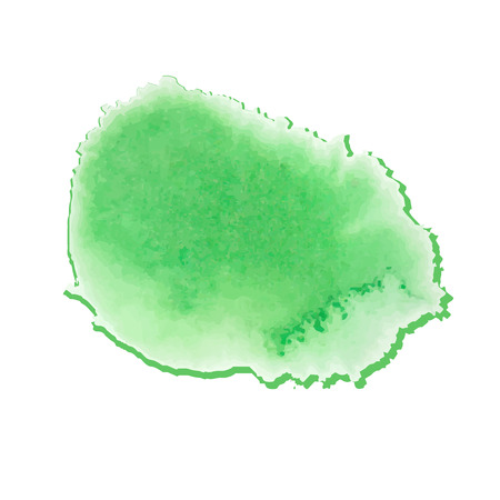 blotch: colorful green-yellow watercolor stain with aquarelle paint blotch Illustration