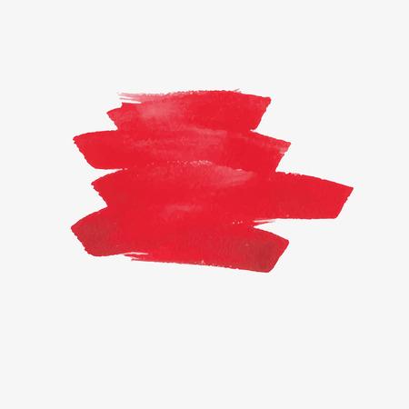 Colpi ad acquerello e texture. Disegno vettoriale. Vettoriali
