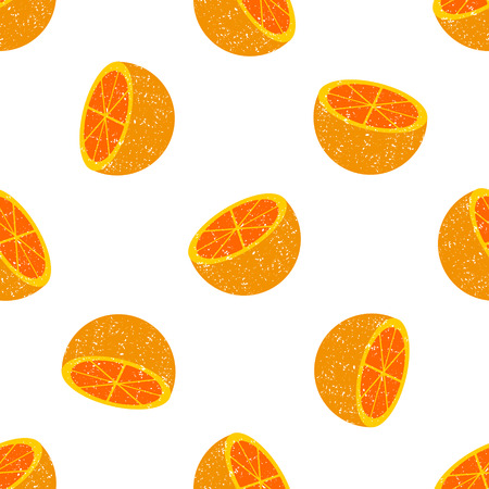 orange slices: background of many wealthy orange slices on each other. Illustration