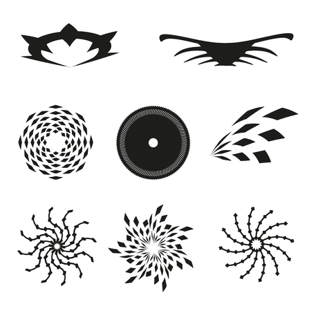 Set of vector elements for design-patterns, spirals, different elements.
