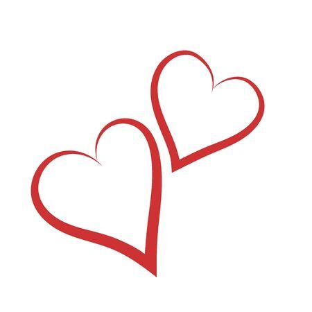 vector hearts: Vector hearts silhouettes