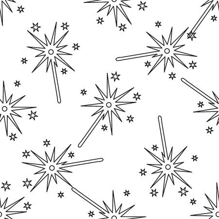 sparkler: Seamless background-burning christmas sparkler. Illustration