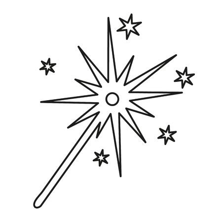 sparkler: burning christmas sparkler