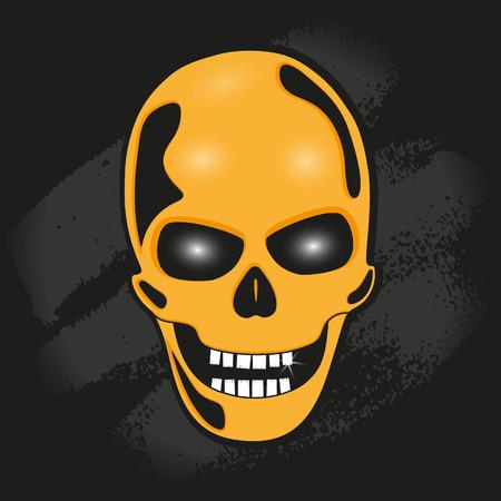 eye sockets: The skull against the wall. stylized vector illustration.