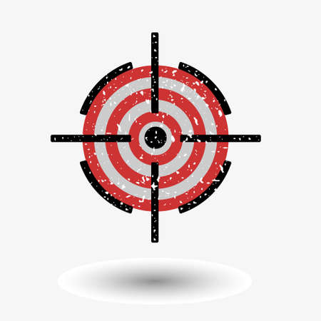 grit: The image of the target, covered in white grit. Illustration