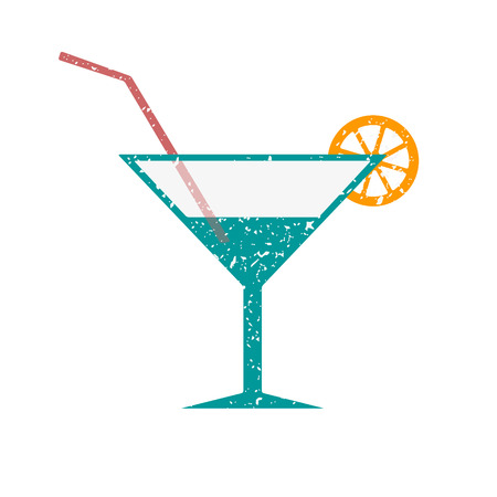 crumb: A glass of cocktail, powdered white crumb. Illustration