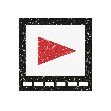 playback: Icon video playback, powdered white crumb.