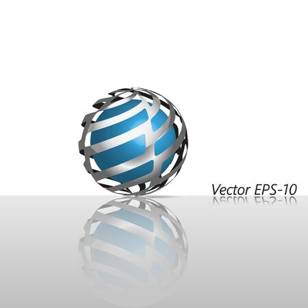 hitech: Abstract glass hi-tech sphere logo icon.