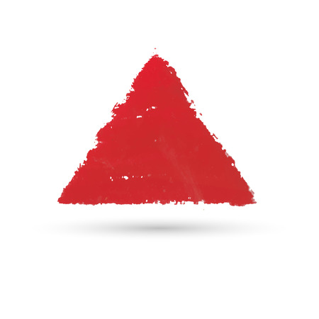 sloppy: a triangular figure drawn with paint. Watercolor texture, background or frame.
