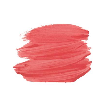 gouache: strokes of red gouache Illustration