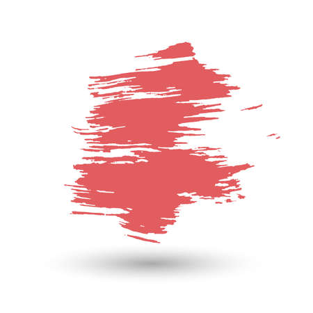 carelessness: Red stroke of paint. Illustration