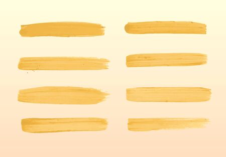 carelessness: The set of yellow strokes of gouache.