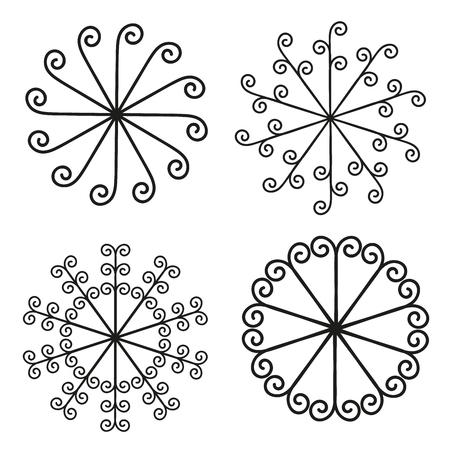 von Elementen für Design - Spirale Locken.