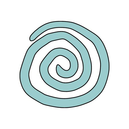 inconspicuous: Spiral, drawn by hand. Vector drawing with editable
