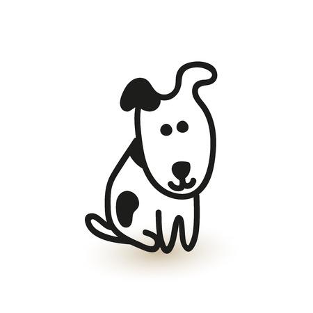 Little cute puppy. Vector sketch.