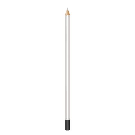 graphite: graphite pencil. Realistic vector image. pencil, pen, crayon