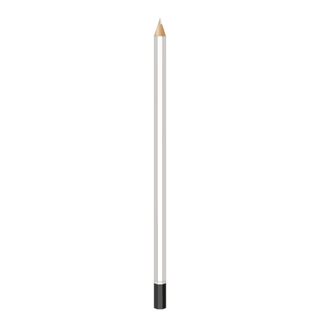 grafit: Ołówek grafitowy. Realistyczna grafika wektorowa. ołówek, długopis, kredka