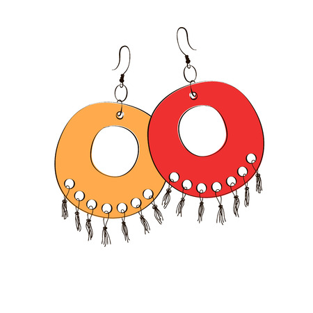 earrings: Pair of ethnic jewelry. Womens earrings.
