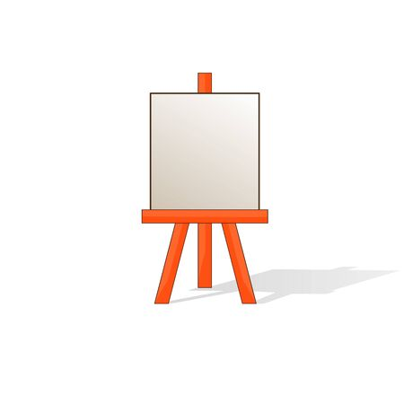 easel: Wooden easel with blank space ready for your advertising and presentations.
