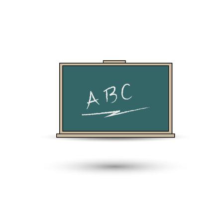 green chalkboard: Green chalkboard. Board school Vector icon