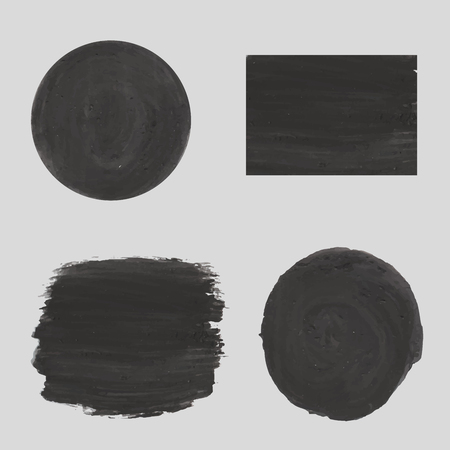 black textures: Grey dial, black textures of plaster, chalk, or gouache EPS 10