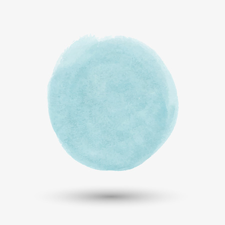 spot: Watercolor turquoise spot on a white background. Watercolor round spot