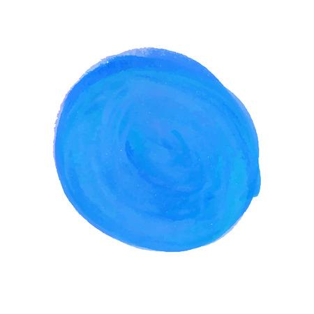 Watercolor round blue spot