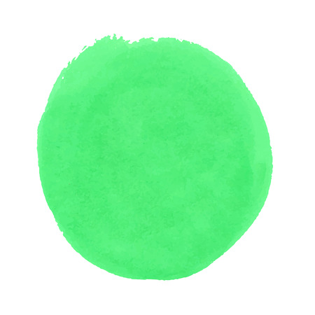 A round, green stain, smear watercolor paint