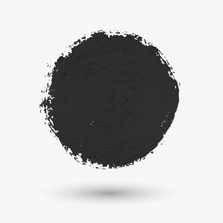 muck: Black circle the texture of the watercolor, chalk, gouache . Vector illustration.