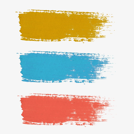 Set of colored vector paint-splatter. The color palette