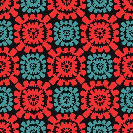 circular elements of the pattern. Seamless background. Vector Illustration