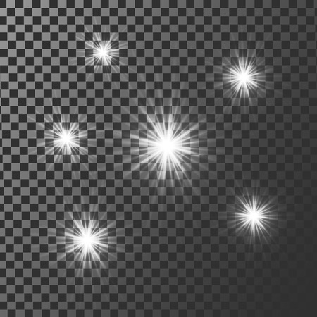 light ray: White glowing light burst explosion with transparent. Vector illustration for cool effect decoration with ray sparkles. Bright star. Transparent shine gradient glitter, bright flare. Illustration