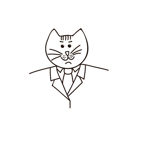 parody: Cat in a business suit
